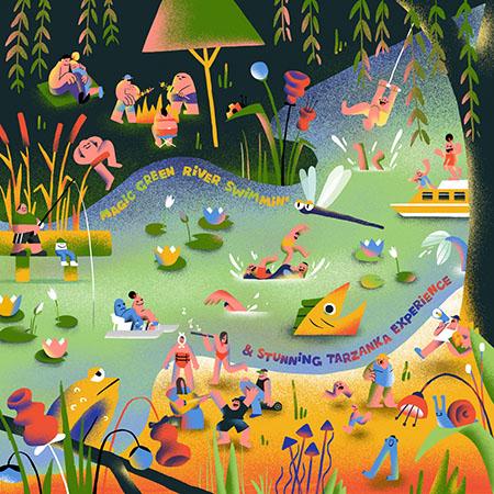cover STRAYTONES - Magic Green River Swimmin Stunning Tarzanka Experience